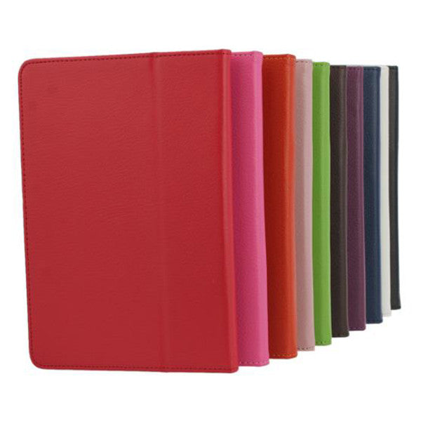 Litchi Pattern Leather Pouch Case With Folding Stand For iPad Mini