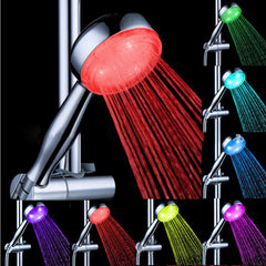 Automatic Change 9 LED 7 Color Changing Shower Head Lights