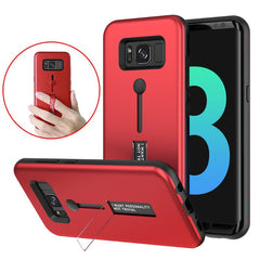 Built-in Kickstand Strap Grip PC+TPU Case For Samsung S8 Plus