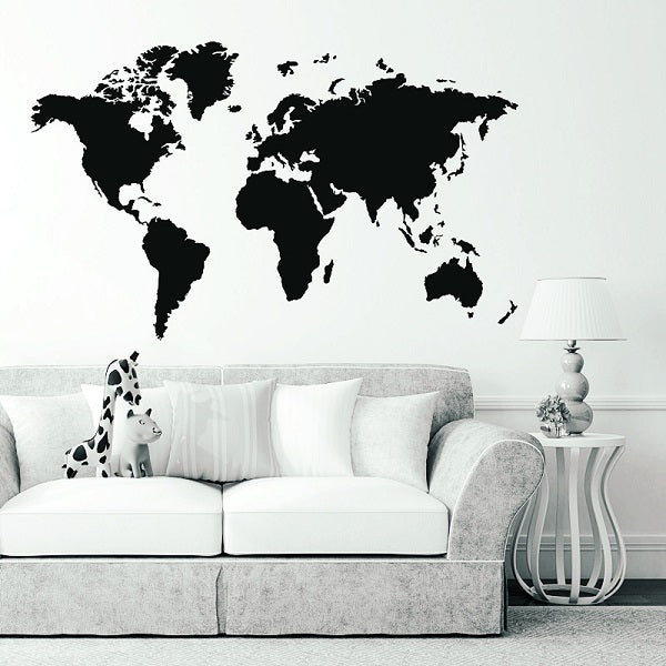 Wil je alles weten over Large PVC World Map Removable Vinyl Wall Sticker Home Bedroom Office Art Decal? Hier lees je alles over Home Decor Wall Map Sticker