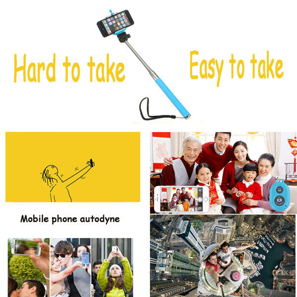 Colorful Bluetooth Remote Extendable Handheld Selfie Monopod
