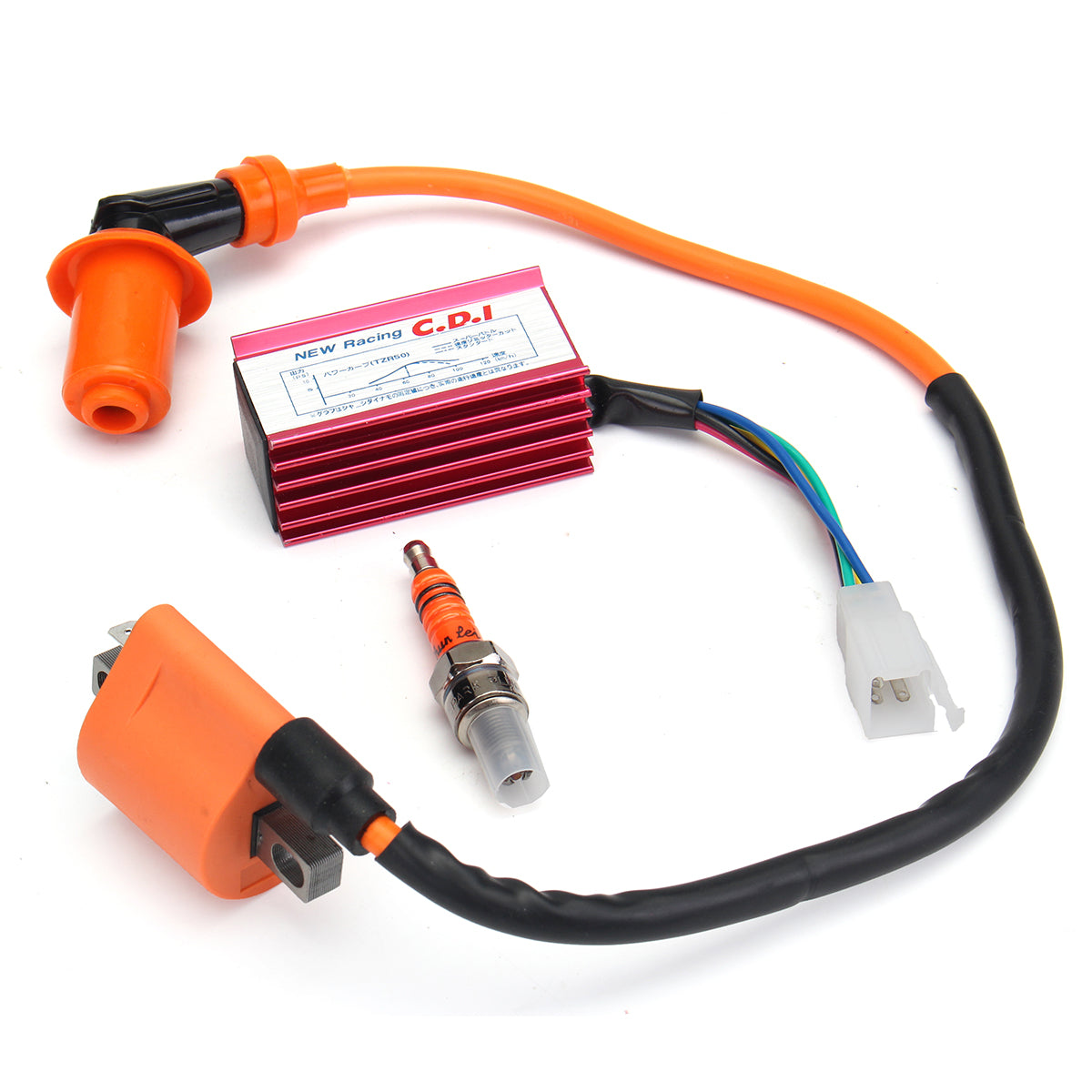 Cdi 25km Kymco Peugeot Sym 50cc 4 Takt Dc New 50 70 90 110cc 125cc Wire Harness Wiring Racing Ignition Coil Coolster 3050 3125 Taotao Ata 110 125