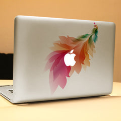 PAG Feather Decorative Laptop Decal Removable Bubble Free Self-adhesive Partial Color Skin Sticker