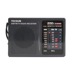 DC 3V-6V Tecsun Mini Portable Radio R-202t FM/AM 64-108MHz World Band Receiver