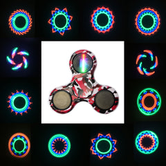 ECUBEE Hand Spinner ABS LED Camouflage Red Fidget Spinner Finger Focus Reduce Stress Gadget