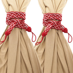 A Pair Tying Rope Tassels Curtain Tie Back Handmade Curtain Cord Home Decor