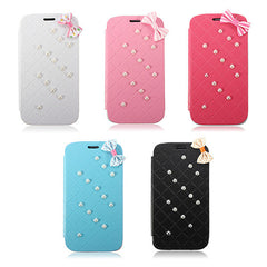 Bowknot Pearl Leather Hard Case Cover For Samsung Galaxy S5 i9600