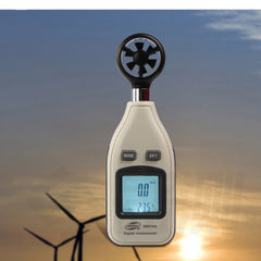 GM816A Digital LCD Handheld Air Wind Speed Meter Anemometer Thermometer Tester Measure Velocity