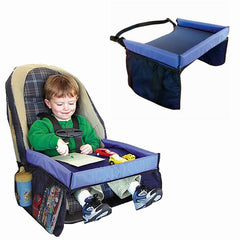 New Child Waterproof Safety Seat Kids Snack Car Play Table Tray Drawing Board