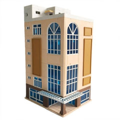 N Scale 1/144 Dark Beige Trade Building Scenary Layout Outland Model For Sandbox