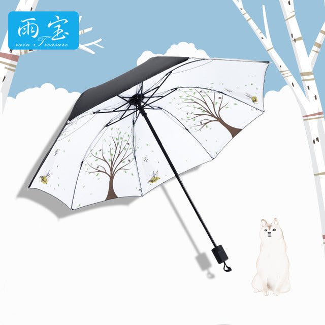 Beautytool Heart Types Custom Generic Foldable Umbrella Sun Rain Anti-UV