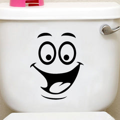 Honana BX-421 Smiling Face Waterproof Toilet Sticker Bathroom Decoration Decal