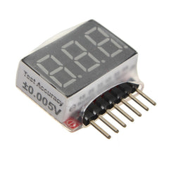 1S-6S Battery Voltage Meter Checker Low Voltage Tester
