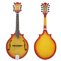 IRIN T-03 Solid Spruce Wood Cutaway Mandolin Sunset Red with Gig Bag