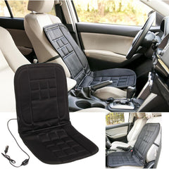 Universal 12V Electric Car Front Seat Heating Cover Padded Thermal Cushion Black