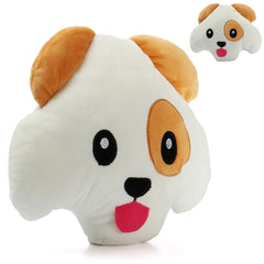 "12"" Cute Puffy Dog Soft Pillow Emoticon Toys Funny Stuffed Cushion Doll Gifts"