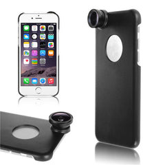 3in1 Fish Eye Wide Angle Camera Lens With Back Case For iPhone 6
