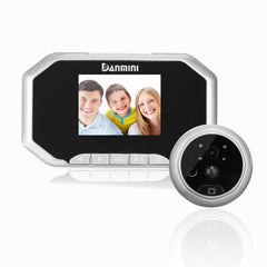 3inch PIR Motion Detection Doorbell Door Peephole Camera 160 Degrees Video Viewer Night Vision Silve