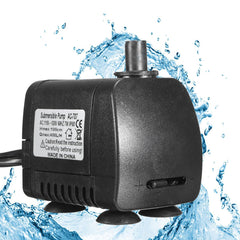 7W AC 110V 120V 400L/H Water Pump Garden Fountain Pond Aquarium Submersible Pump