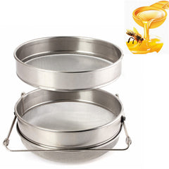 Double Sieve Honey Strainer Stainless Steel Filter Screen Beekeeping Equipment Filter