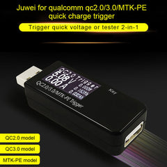 QC2.0/QC3.0/MTK-PE Trigger USB Tester Induction Quick Charge Voltage Detector Current Capacity Power