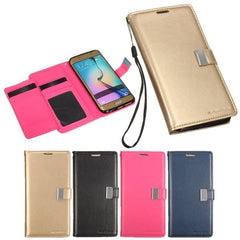 Mohoo Synthetic Leather Wallet Card Slot Case For Samsung Galaxy S6 Edge