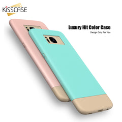 KISSCASE 2 in 1 Color Full Protector Ultra-thin Hard PC Cover Case for Samsung Galaxy S8 Plus