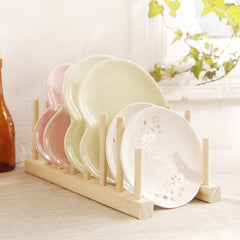 Multi-function Solid Wood Plate Dish Drain Rack Tableware Shelf Holder Container