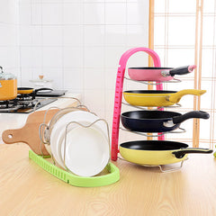 Multi-functional Multilayer Pot Pan Cover Stand Holder Rack Shelves Kitchen Storage Tool