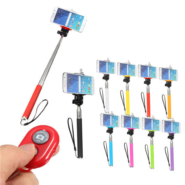 Selfie Handheld Monopod Stick and Holder with Bluetooth Shutter Remote For Iphone 6s Cell Phone