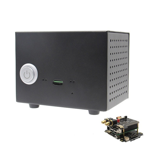 X4000K HIFI Audio Mini PC Kit Expansion Board + Case + Adapter for Raspberry Pi 1 Model B+- 2 Model