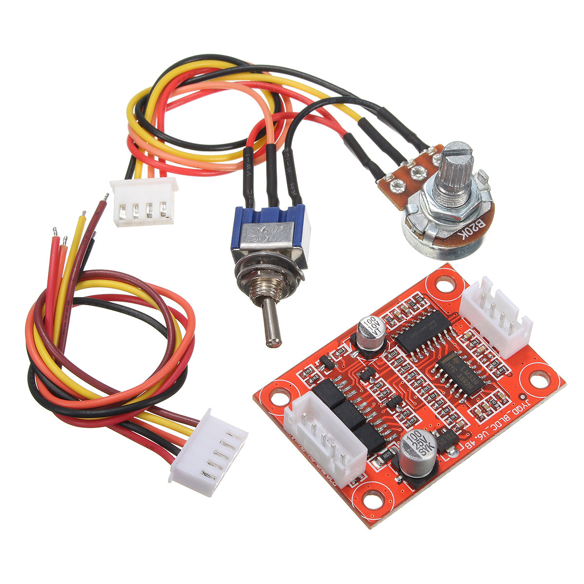 Brushless Motor Controller Wiring Dc 12v 24v 36v 500w Hall Balanced Driver Board Kit For Hard Drive Pump