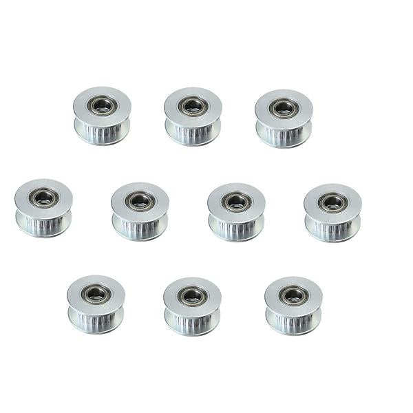 10pcs 20T 5mm GT2 Timing Belt Idler Pulley With Bearing For 3D Printer