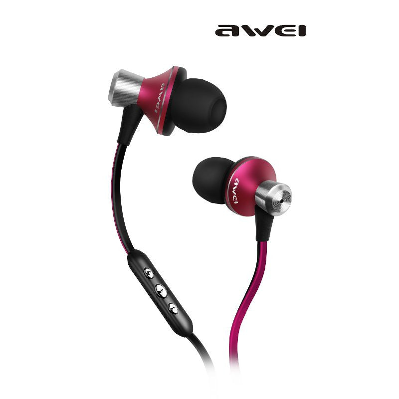 Awei TE-850vi In-Ear Clear Bass With Mic Headset Headphone Earphone For iPhone 6S iPod Samsung HTC