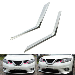 2pcs Front Grille Grill Chrome Cover Trim Molding for Rogue X-Trail 2014-2015