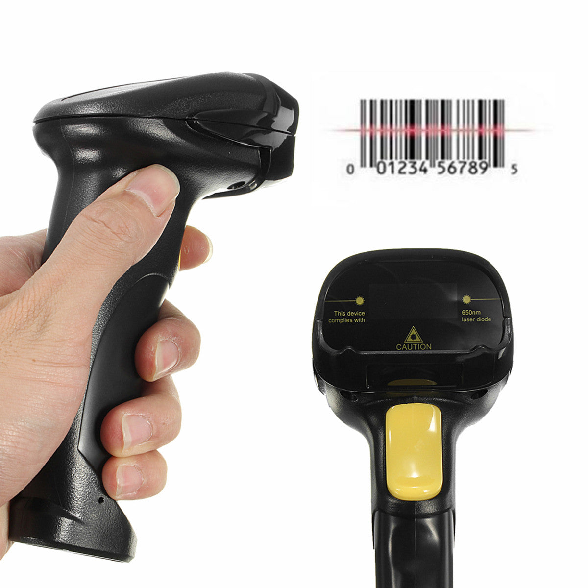 Handheld USB Port Laser Barcode Scanner Bar Code Reader for POS Computer UPC EAN