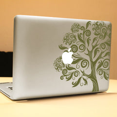 PAG Big Tree Decorative Laptop Decal Removable Bubble Free Self-adhesive Partial Color Skin Sticker