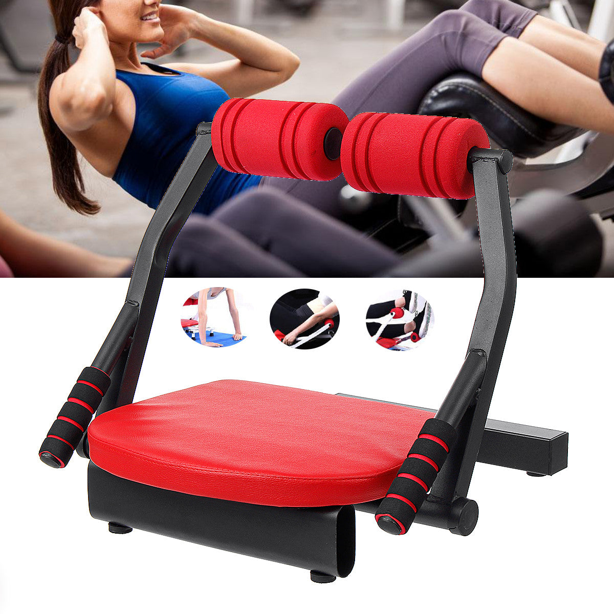 6 in 1 Sit-ups Cruncher Buiktrainer Machine Body Fitness Taille Kracht Oefening Tools