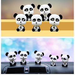 Coola Cartoon Panda Car Interior Accessories Ornament Gift Painted Evade Glue