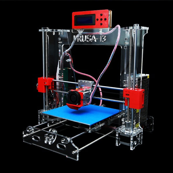 Zonestar DIY Acrylic Reprap Prusa Pro B 3D Printer MK8 1.75mm Filament Support 0.2-0.3-0.4mm Nozzle