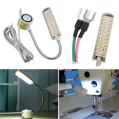 1.5W 110-250V 20 LED Gooseneck Sewing Machine Single Magnetic Base Knuckle Joint Light