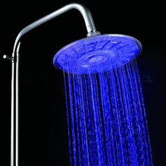 LED RGB Temperature Controlled Self-Powered Rainfall Top Shower