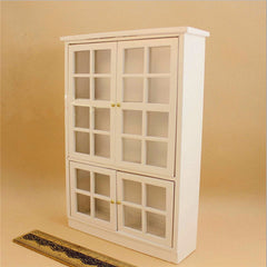 1/12 Cabinet Display Shelf Dollhouse Miniature Furniture Kitchen Dining Room Accessories Decor