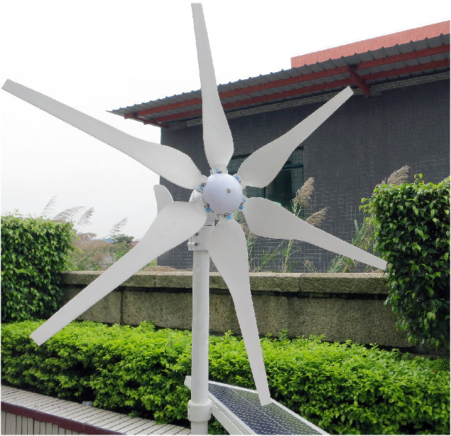 High Efficiency 300W Wind Turbine Generator AC-DC 12V-24V 6 Blades
