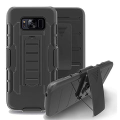 Bakeey™ 3 in 1 Armor Belt Clip kickstand Holder Soft TPU+Hard PC Case for Samsung Galaxy S8 Plus