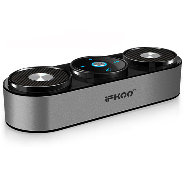 Ifkoo S4 Portable Stereo TF Card FM Radio AUX Hands-free Wireless Bluetooth Speaker Touch Button
