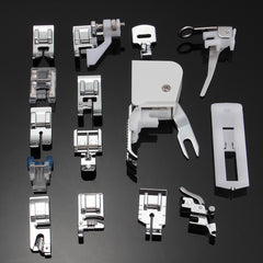 15Pcs Low Shank Sewing Machine Feet Presser Walking Foot Set Kit