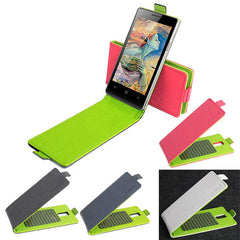 Hit Color Flip PU Leather Protective Case Cover For Doogee DG450