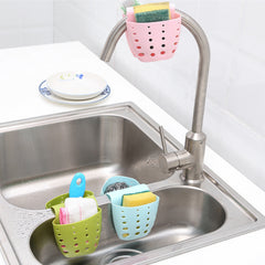 Kitchen Portable Hanging Drain Bag Basket Bath Storage Gadget Tools Sink Holder Sink Rack