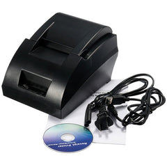 12V USB Mini 58mm POS ESC Thermal Dot Receipt Printer Set 384 Line with Roll Paper
